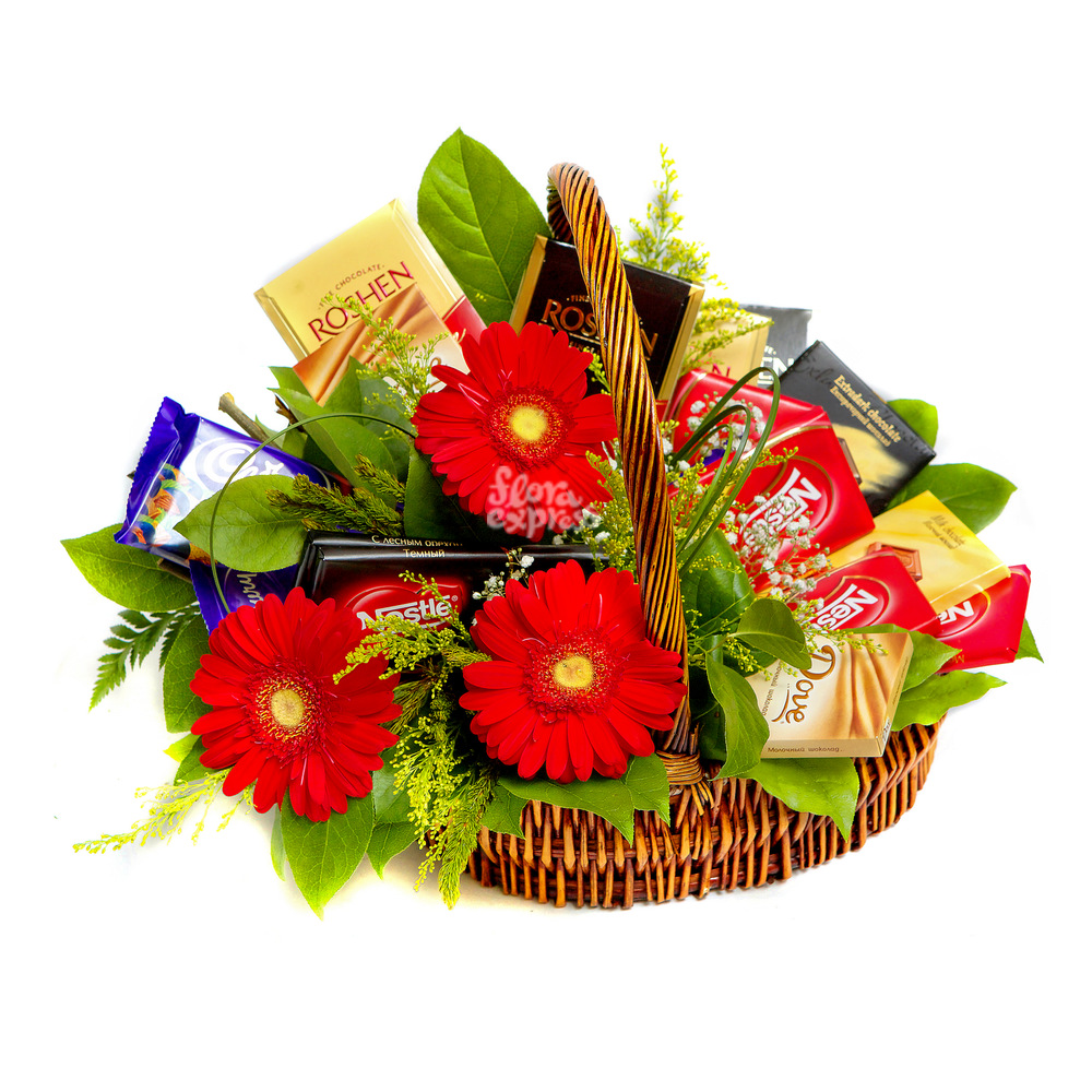 Букет «Flora Express», Сладкая корзина