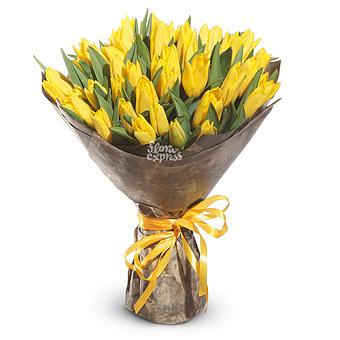 Букет Солнечное сияние: Желтые тюльпаны