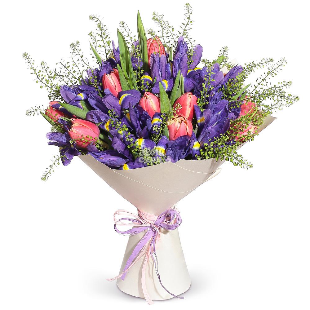 Букет «Flora Express» Ирисы и тюльпаны фото