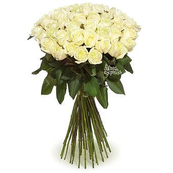 Букет Высокие Белые Розы